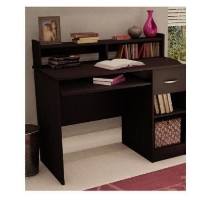 Desk With Keyboard Tray - Brown
