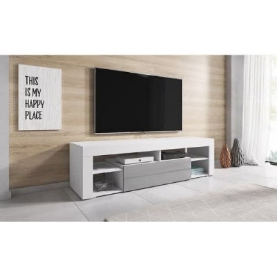Stand For Televisions Up To 55inches - White & Grey