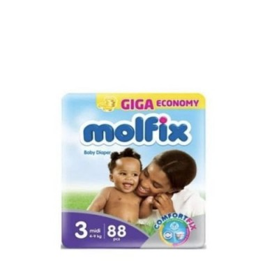 MOLFIX DIAPERS SIZE 3 88 COUNT