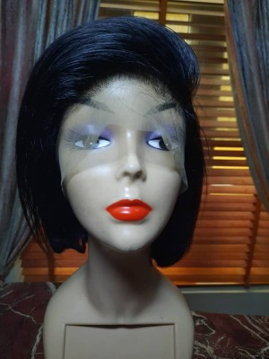 Bob wig with frontal