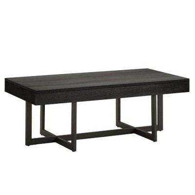 Sadia Besant Finish Coffee Table With Two Drawers Black