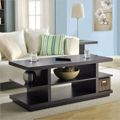 Sadia Besant Coffee Table/tv Stand In Espresso Finish