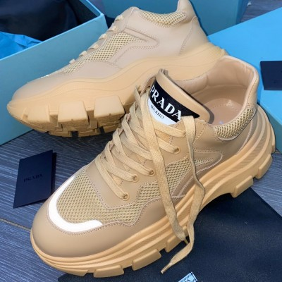 2020 New Mens Catwalk Trend Fashion Sneakers -Brown