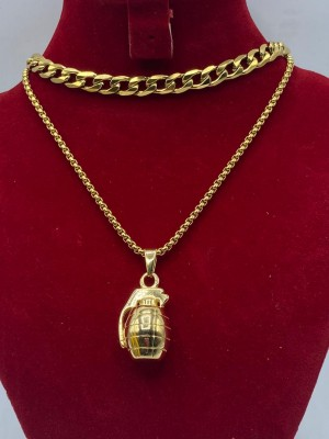 Cuban link Gold necklace with jug pendant