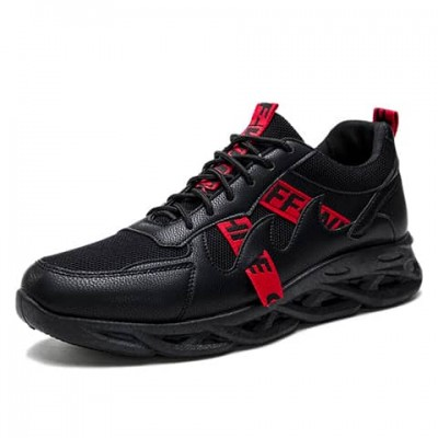 OFF WHITE Casual Lace up fashion sneakers- BLACK
