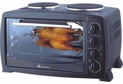 S-936 SAISHO ELECTRIC OVEN, 40L, 2 Hot Plate, Black