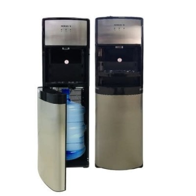 MAXI WD1639S Bottom loading design,Design to hold inside from 3 to 5 gallon water bottle,3 Faucets (Hot, Neutral, Cold)  ,Double safety device for preventing over heat,High power stainless steel hot water tank,Space saving and minimalist design,Back handle,Black Handle, Dark Silver