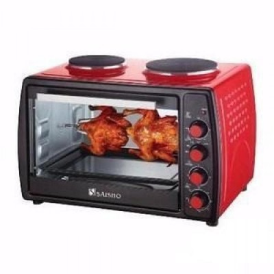S-936R SAISHO ELECTRIC OVEN, 40L, 2 HotPlat, Red