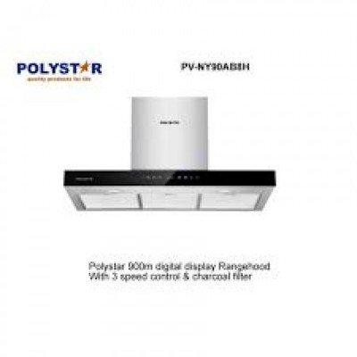 POLYSTAR 900MM DIGITAL DISPLAY 3 SPEED  TOUCH CONTROL COOKERHOOD PV-NY90A11CH