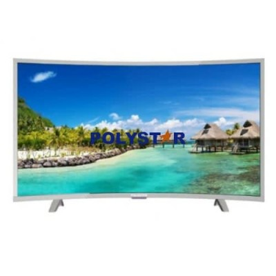 POLYSTAR 40'' CURVE LED SMART ANDROID TV SILVER COLOR.