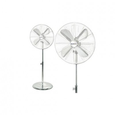 POLYSTAR 16'' 3 SPEED, 3 PP BLADE, 40W  STAND FAN, WHITE COLOR.-PV-16059BLU