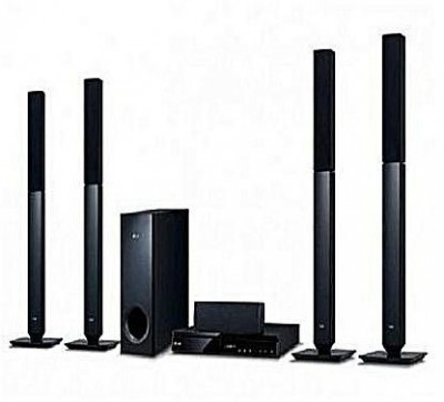 1000W,5.1 Ch, 4Tall Boy, Bass Blast, Powerful Front Woofer, Bluetooth, Full HD Up-Scaling, 1 HDMI in &out-AUD 655B
