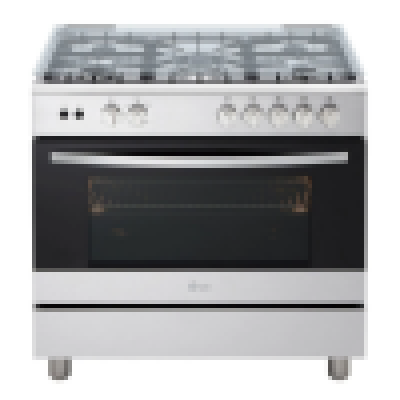 5 Gas burner, Silver, Closed Door Grilling,Removable Door Glass,Full Safety,Rotisserie-LG STOVE 415 RMA
