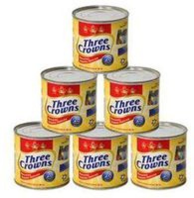 Three Crowns Evaporated Milk 160g - Pack of 6