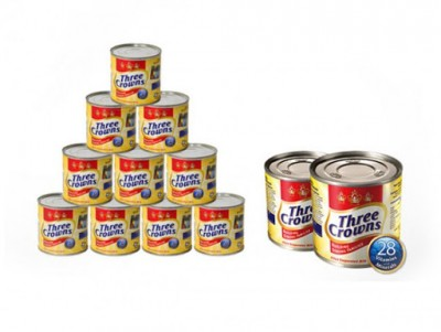 Three Crowns Evaporated Milk 160g - Pack of 12