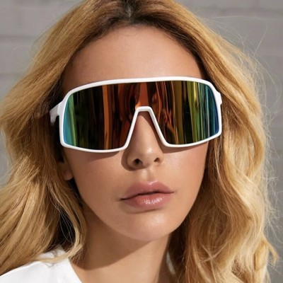SHP 2020 new colorful bicycle glasses men 1998 trend one-piece sunglasses European and American outdoor sports sunglasses